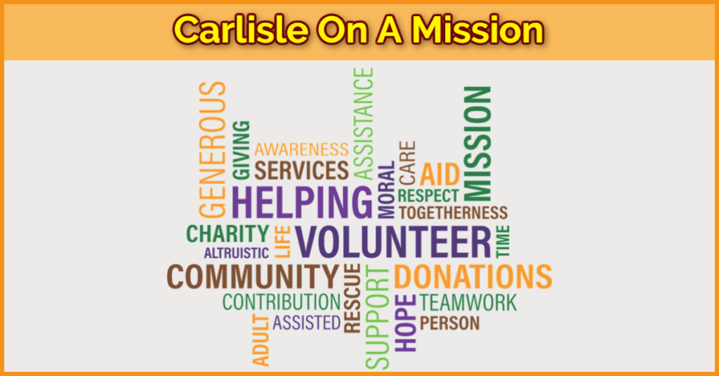 Carlisle On A Mission -April 2018